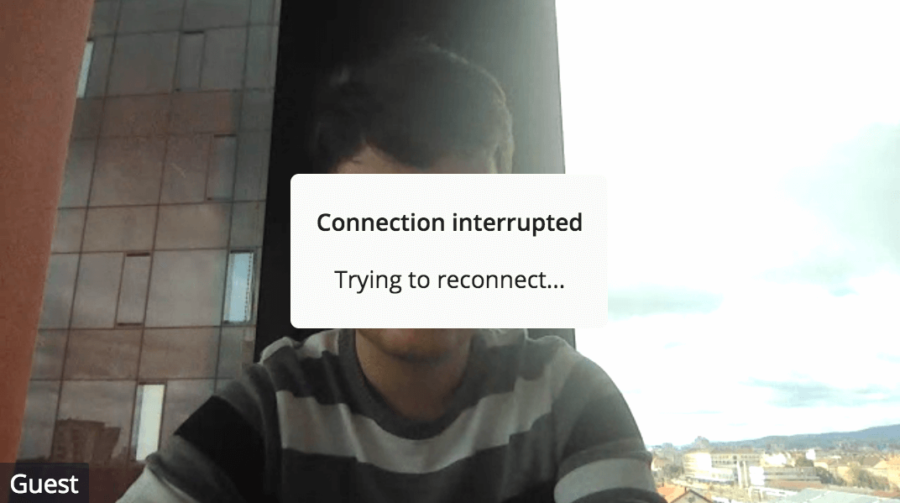 Video conference life…